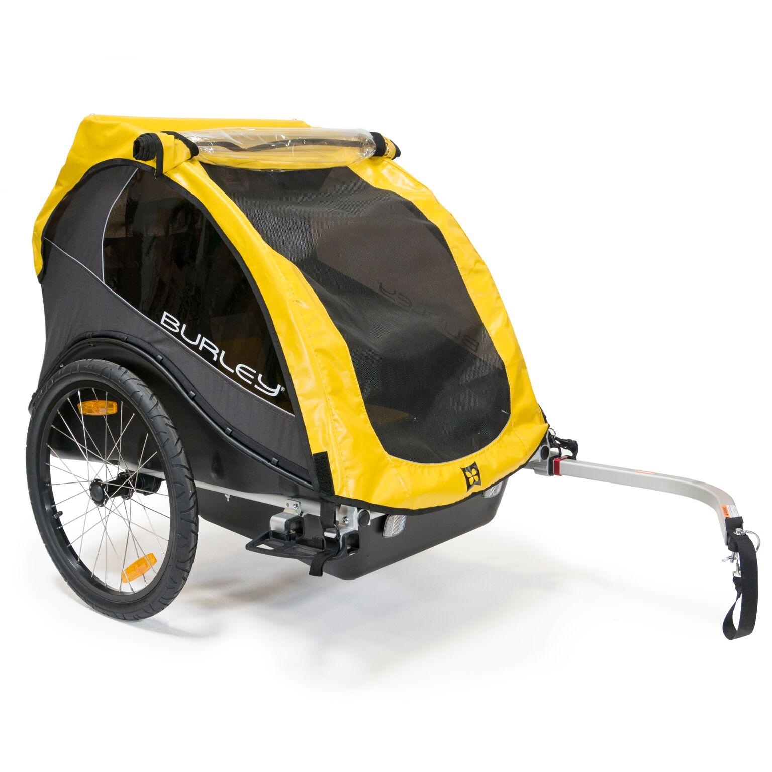 Burley Rental Cub Child Bicycle Trailer Yellow
