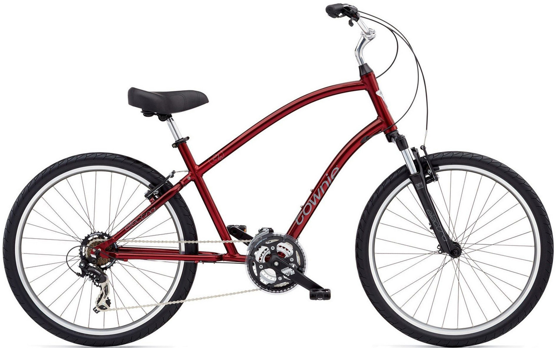 Electra Townie 21D in Crimson Mettalic
