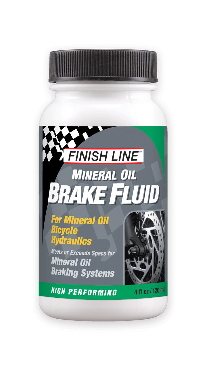Finish Line Mineral Oil Brake Fluid 4 Ounce Bottle
