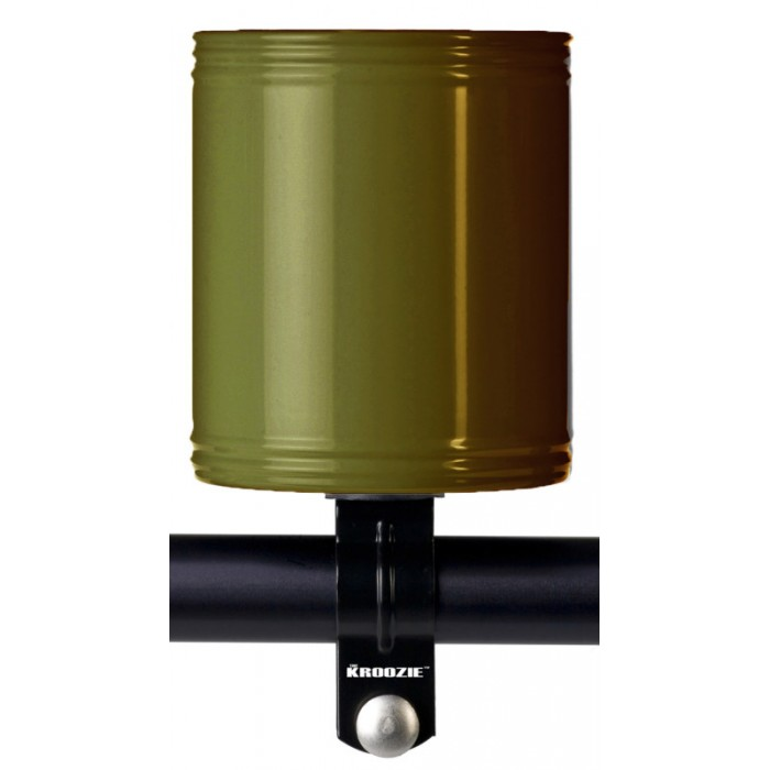 KROOZIE CUPS STAINLESS STEEL ARMY GREEN BICYCLE DRINK CUP HOLDER
