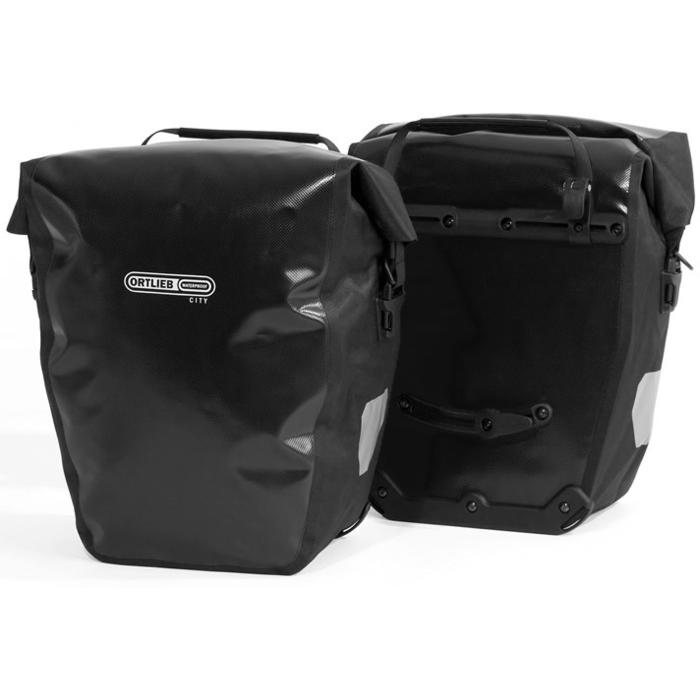 black ortlieb back roller city panniers