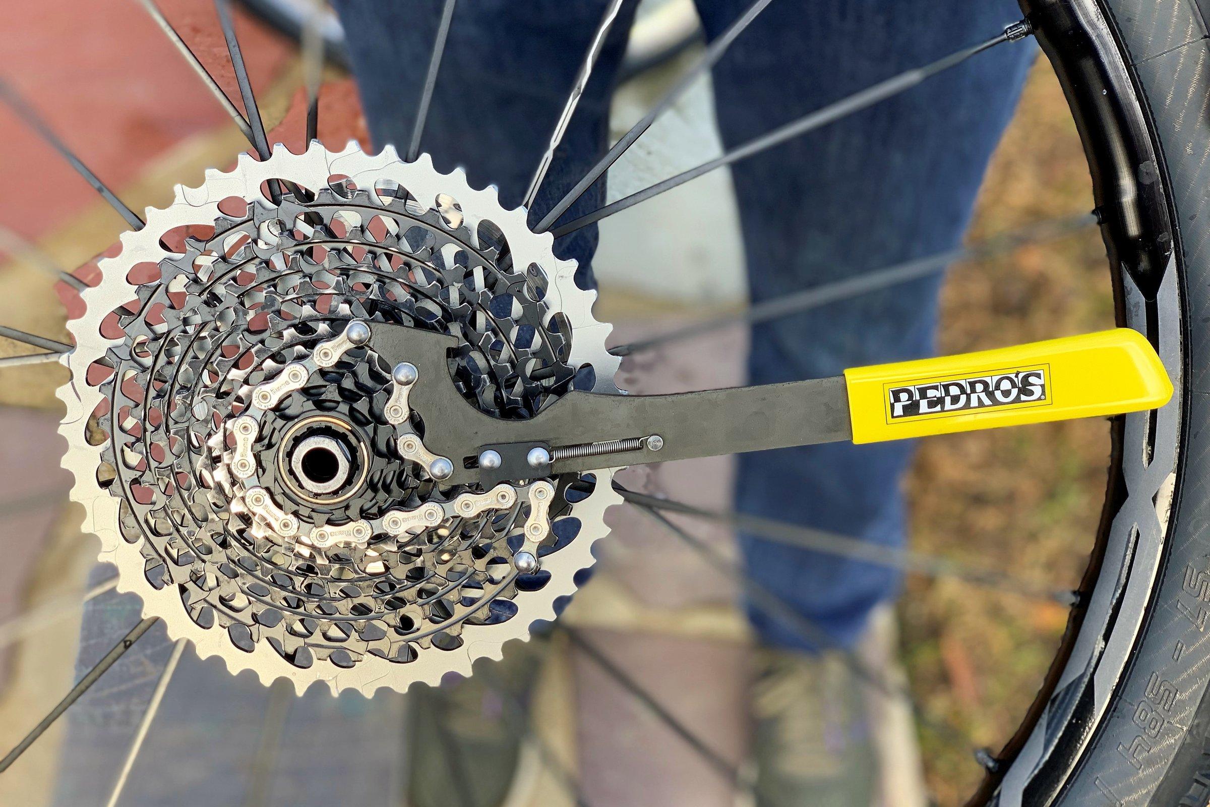 Pedro/'s Pro Chain Whip Jaune chaînes bâton vélo Kasette outil vélo montage