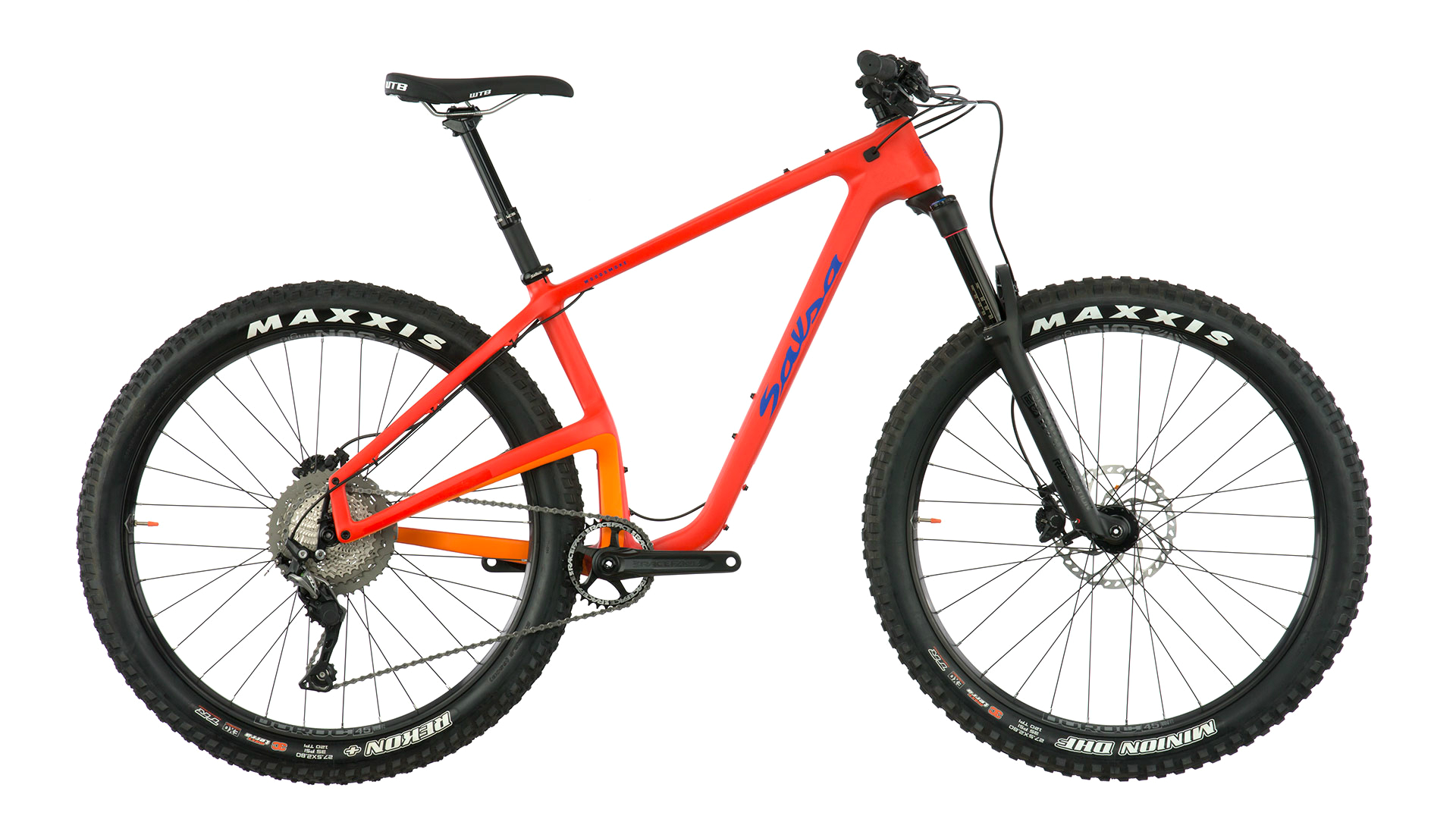 orange Salsa woodsmoke hardtail mountain bike