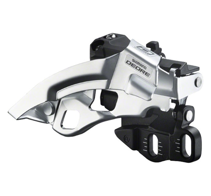 Deore 10-Speed Dual-Pull Double Front Derailleur (Top Swing, E-Type)