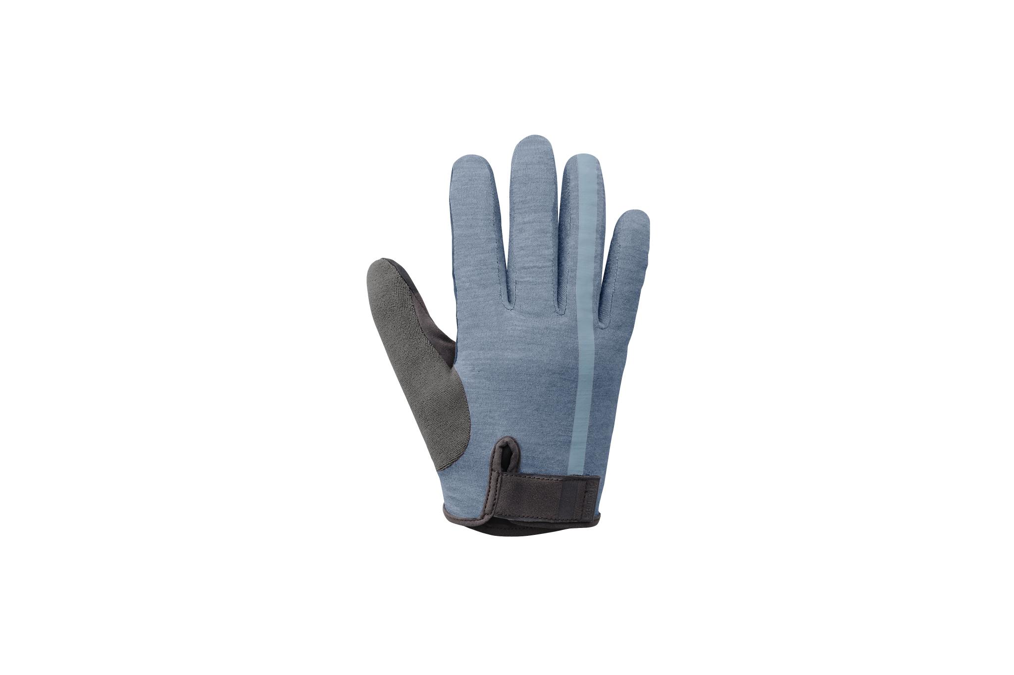 Shimano Transit Short Finger Men/'s Bike Gloves Aegean Blue New Large