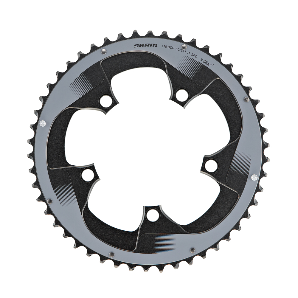 SRAM 34T 110mm BCD 11-Speed Road Bicycle Chainring fits 50T-S3 Red X-Glide