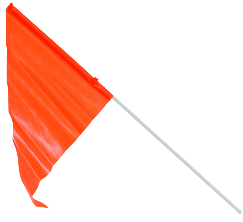 "Sunlite Reflective Safety Flag Safety 2 Piece 72/"" Reflective Flag"