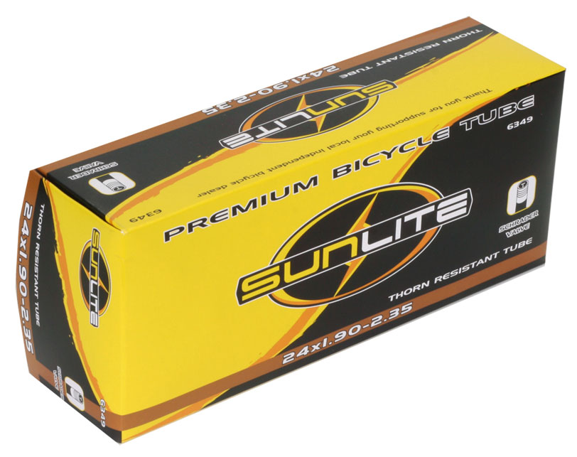 Sunlite Thorn Resistant Schrader Valve Tube 24 X 1 9 2 35