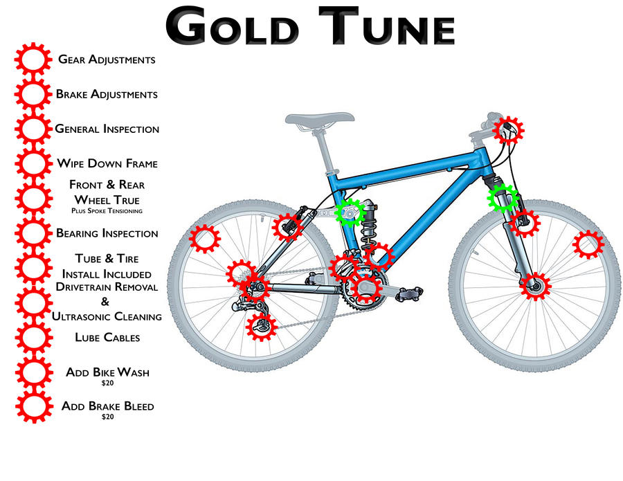 Mtb Gold Diagram Bike One