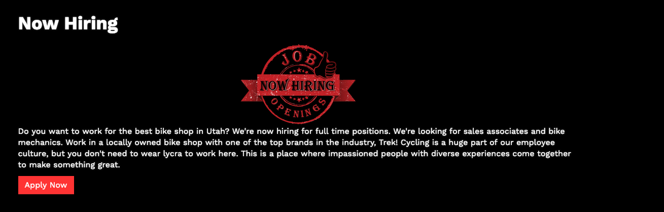 Help Wanted, Apply Today!