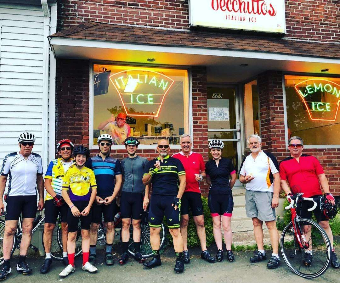 Monday Night Group Ride pit stop for Italian Ice
