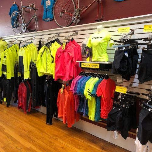 Pedal Power CT Middletown Clothing Display