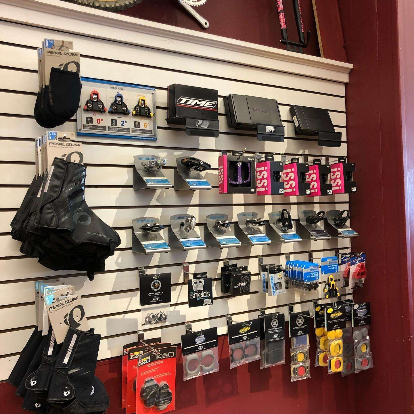 Pedal Power CT Middletown Pedals and Accessories display