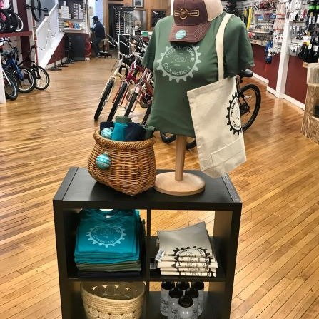 Pedal Power CT Middletown Cycling Themed Gifts Display