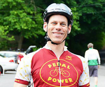 Bill at Pedal Power