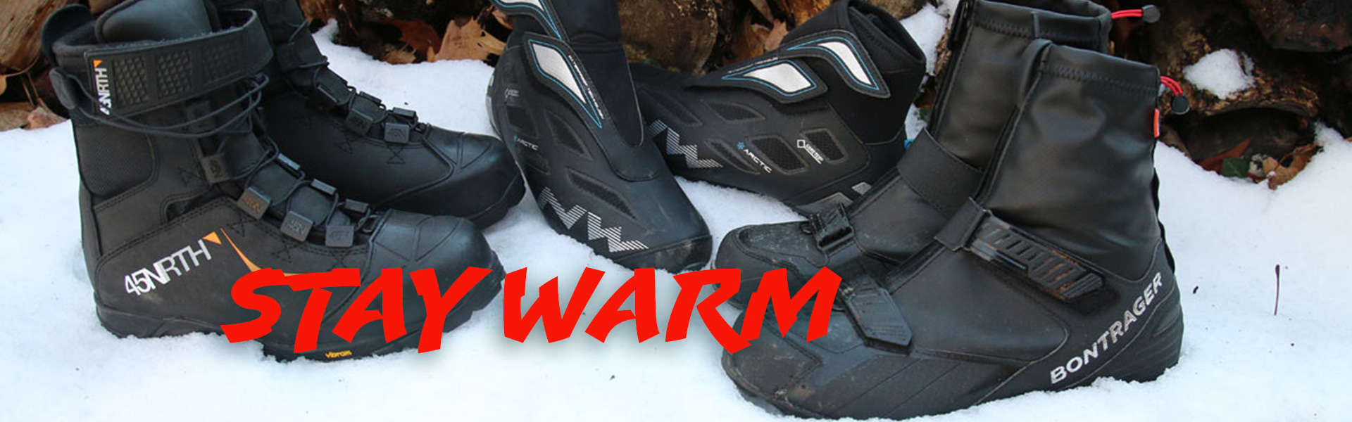 Stay Warm with boots from Bontrager and 45North