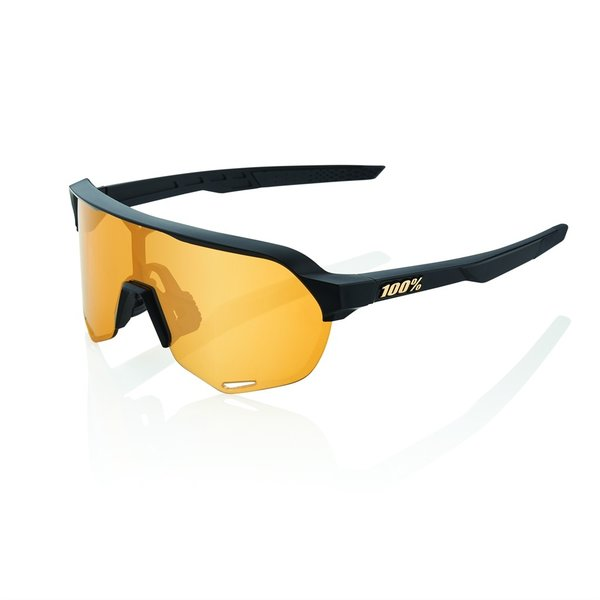 100% S2 Option: Matte Black - Soft Gold Lens