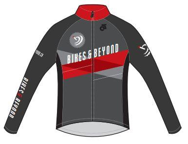 Champion System Bikes & Beyond Men's Tech Fleece Lite Long Sleeve Jersey Color: Grey/Red