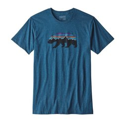 Patagonia M's Fitz Roy Bear Cotton/Poly Tee