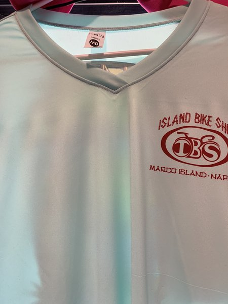 Island Bike Shop UV Performance Long Sleeve Woman's V Neck