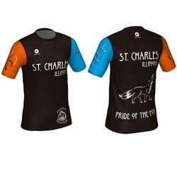 Mill Race Custom St. Charles Pride of the Fox Running Shirt