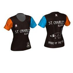 Mill Race Custom St. Charles Pride of the Fox Running Shirt Womens