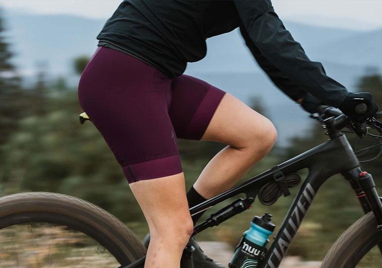 person wearing cycling shorts