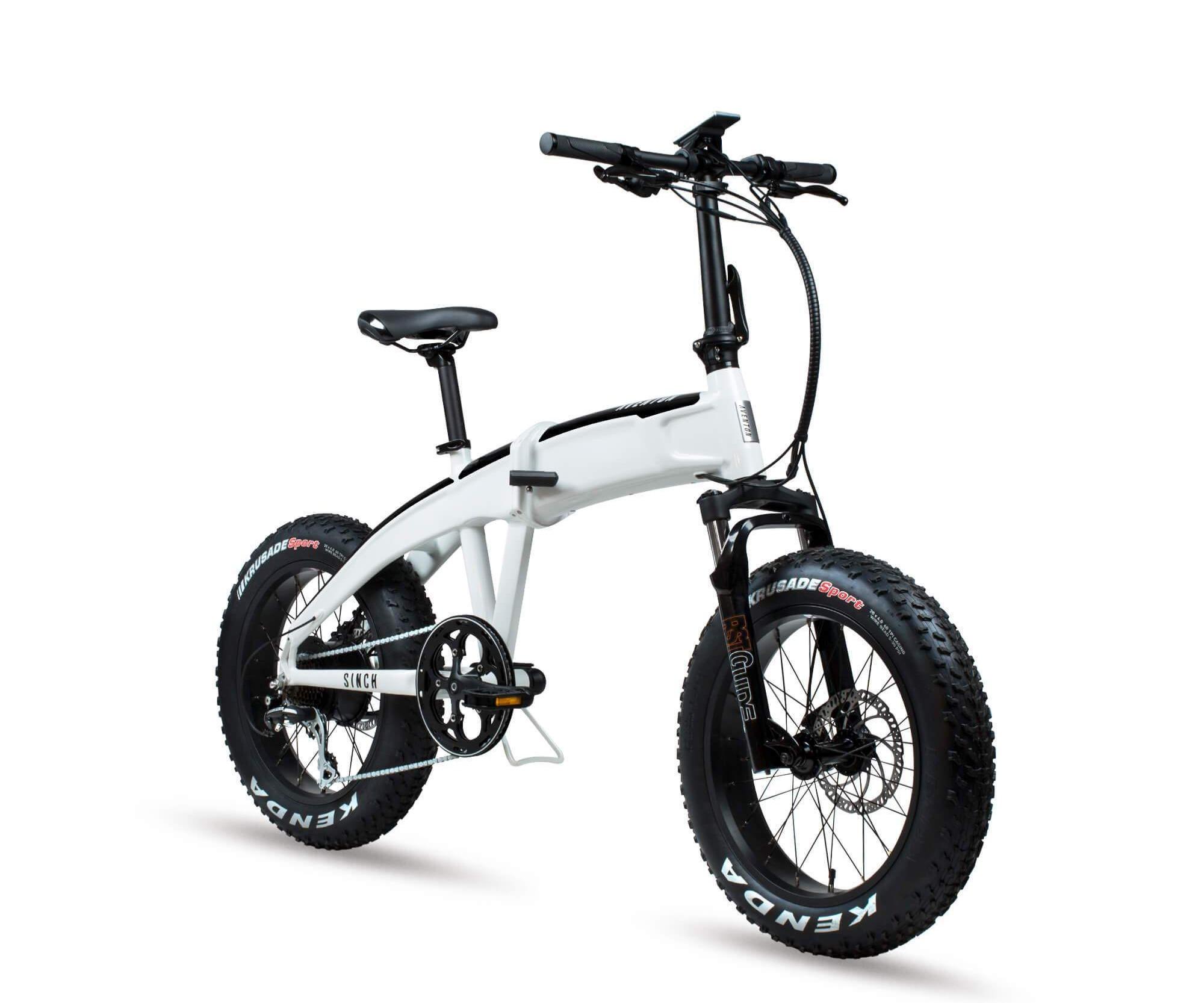 Aventon Electric Bikes Sinch model. A folding bicycle.