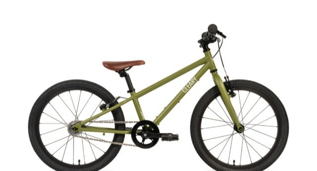 Side view of the Owl bicycle, a single speed Cleary kids bike.