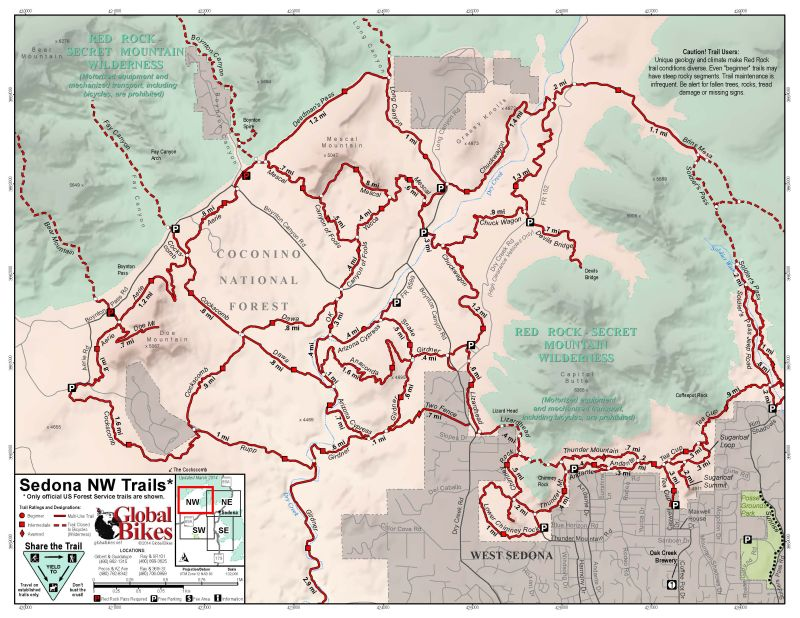 Mountain Bike Trails and Maps - Arizona's #1 Specialized ... on sedona hiking map pdf, cave creek az hiking maps, pine az hiking maps, sedona arizona map, sedona jeep trails map, sedona arizona hiking,