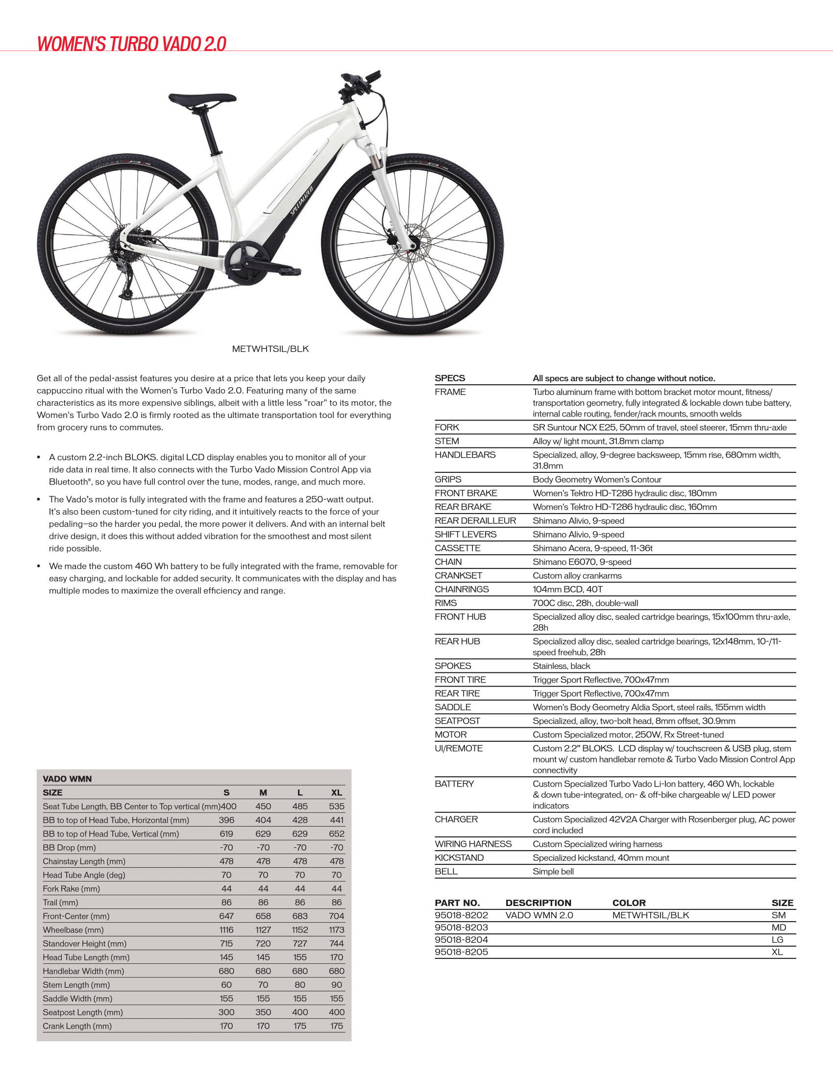 Women's Specialized Turbo Vado 2.0 (E-Bikes)