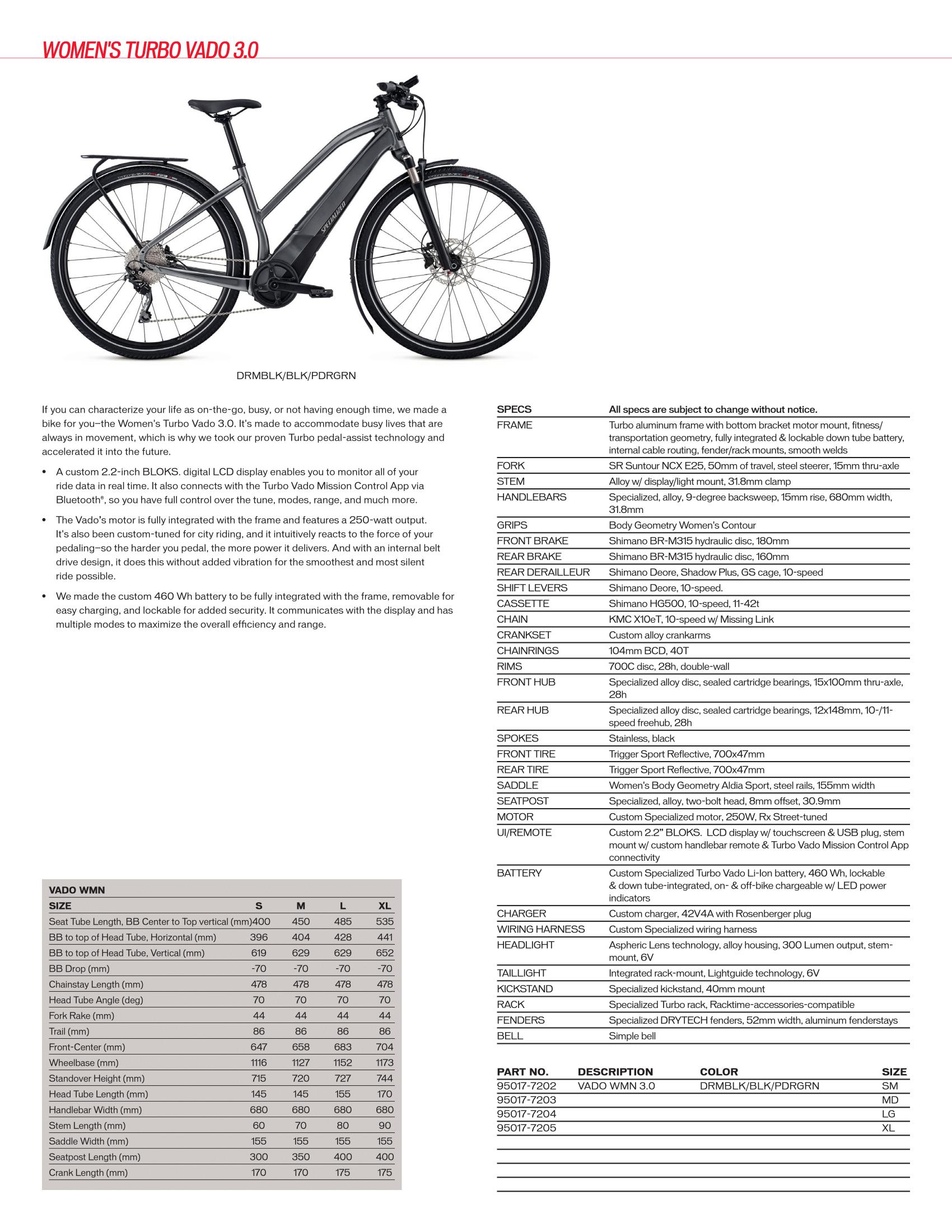 Women's Specialized Turbo Vado 3.0 (E-Bikes)