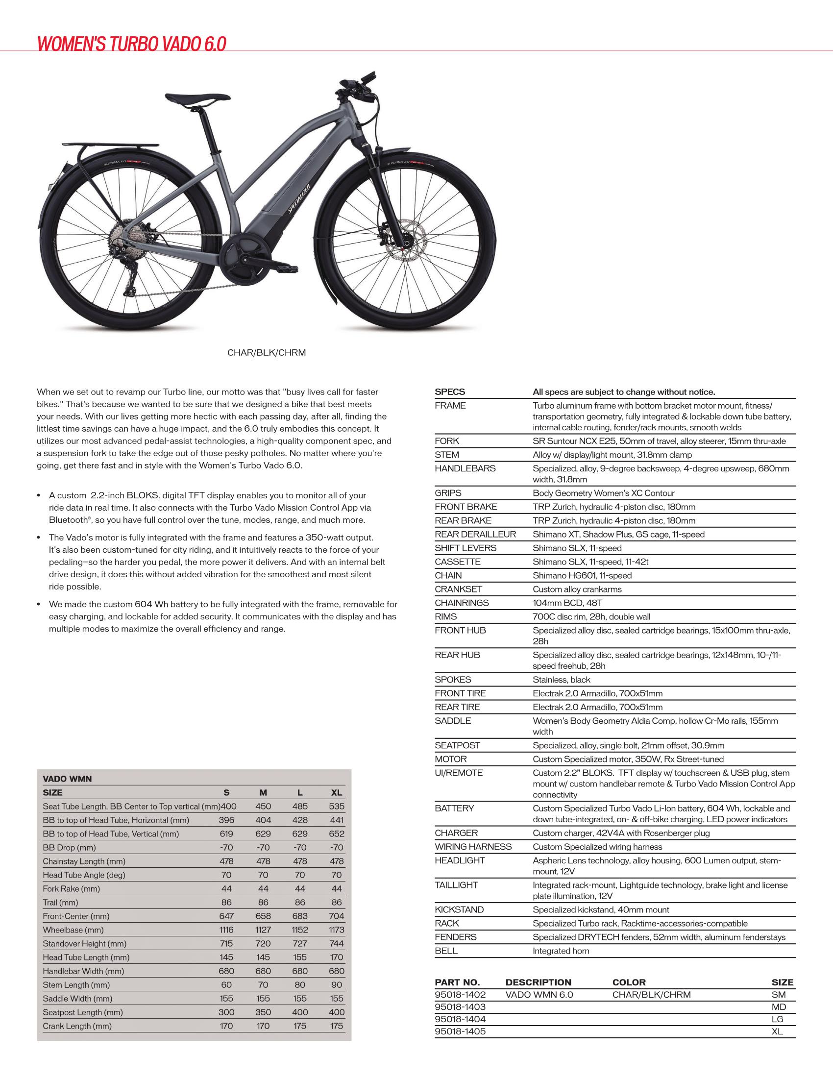 Women's Specialized Turbo Vado 6.0 (E-Bikes)
