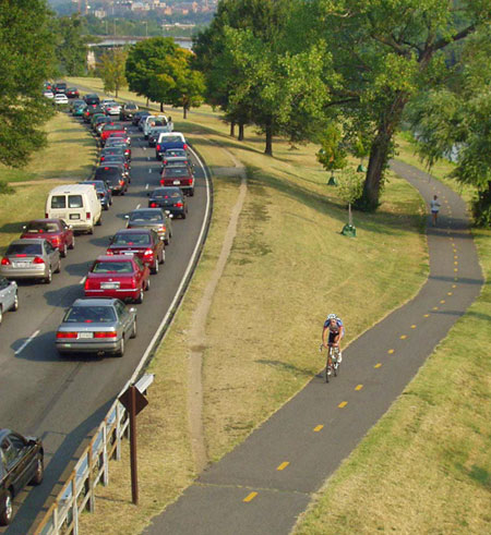 Avoid traffic with commuting by bike