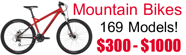 Mountain Bikes - 169 Models - $300 - $1000 - Specialized - Raleigh - Global Bikes