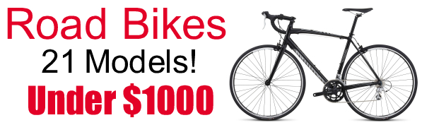 Road Bikes on Sale Specialized Bikes - 21 Models - Under $1000 - Raleigh - Global Bikes