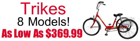 Trike Bikes - 8 Models - As Low As $369.99 - Specialized -Raleigh - Global Bikes