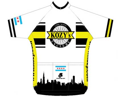 The backside of the Kozy jersey.
