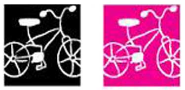 The Bashful Bliss bicycle in black or pink