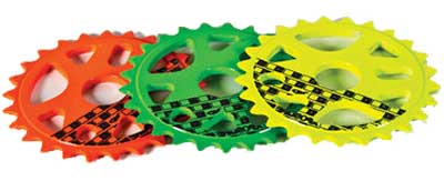 The Rocket Sprocket also in Orange, Green and Yellow.