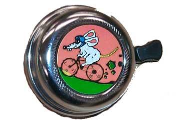 Cyclist Choice Cartoon Bell
