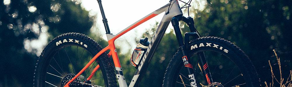 Giant Revolt orange and grey bike