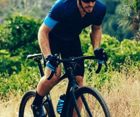 Man riding a Giant Revolt Gravel bike