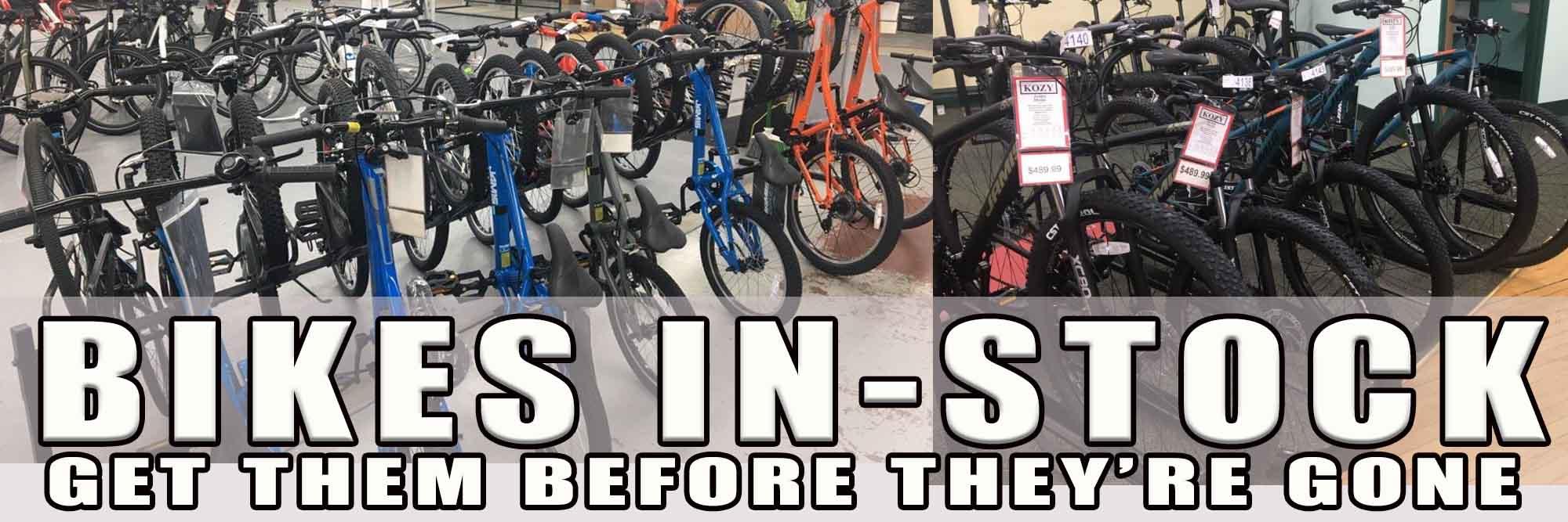 Bikes Now In-Stock