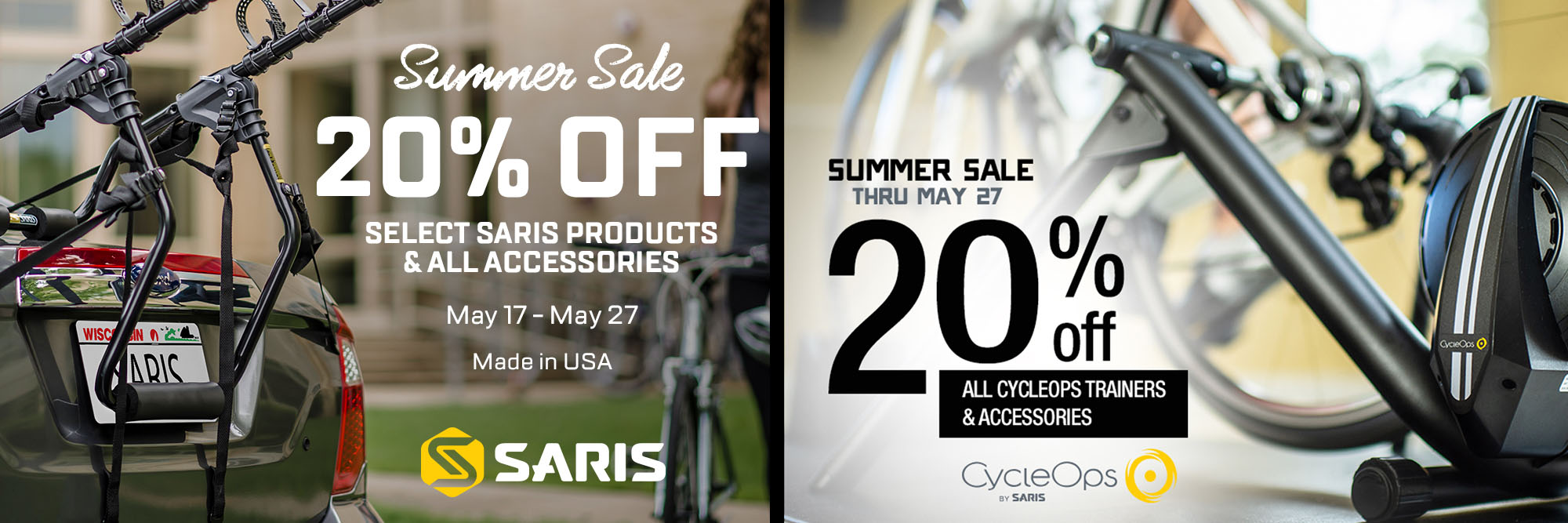 Save on Saris and CycleOps