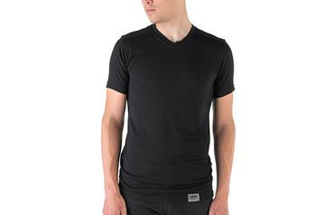 Chrome Bags Mason Merino Jersey V-Neck Tee Color: Black