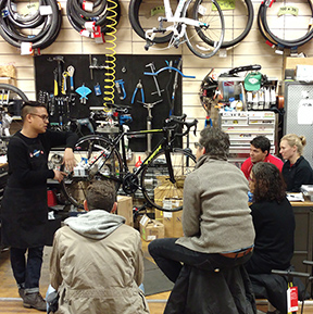 Bicycle Habitat Roadside Repair Class