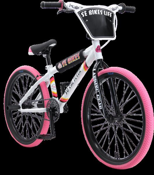 "SE Bikes So Cal Flyer 24"" Pink/White"
