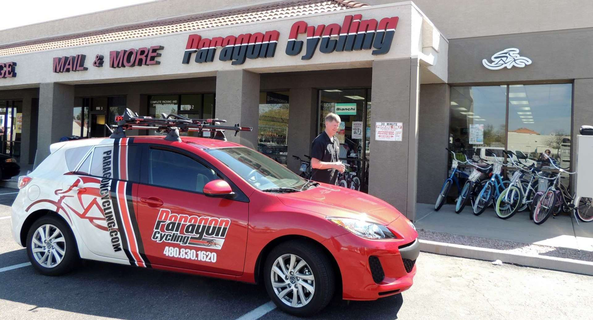 Paragon Cycling Store Front- Mesa, AZ