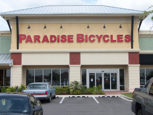 Paradise Bicycle Store Front
